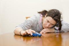 женщина игры фокуса автомобиля Стоковое Изображение