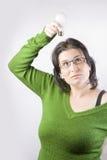 женщина идеи шарика Стоковое фото RF