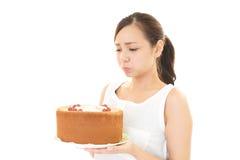 женщина диетпитания Стоковое Изображение
