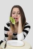 женщина диетпитания Стоковое Изображение RF