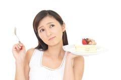 женщина диетпитания Стоковые Фото