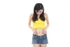 женщина диетпитания Стоковые Изображения