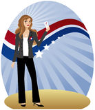 женщина избирателя Стоковое фото RF