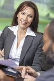 Женщина или коммерсантка в встрече офиса Стоковая Фотография RF