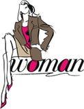 женщина иллюстрации способа Стоковые Фото