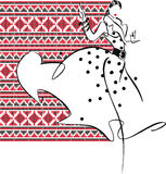 женщина иллюстрации способа Стоковое Изображение RF