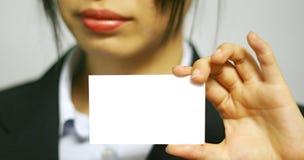 женщина имени визитной карточки стоковое фото rf