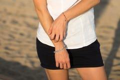 Женщина имея аллергию кожи Стоковая Фотография RF