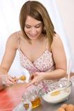 женщина ингридиента хлеба выпечки здоровая Стоковое Изображение RF