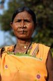 женщина индийского портрета соплеменная стоковая фотография