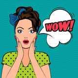 Женщина искусства шипучки с открытым ртом Стоковое Фото