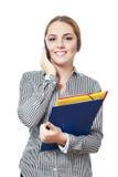 Женщина используя smartphone стоковое изображение rf