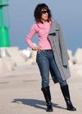 женщина итальянки способа Стоковое Фото