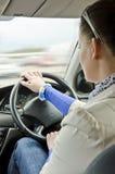 Женщина и автомобиль Стоковое Изображение RF