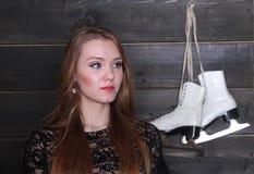 Женщина и диаграмма коньки Стоковые Изображения