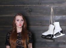Женщина и диаграмма коньки Стоковое фото RF