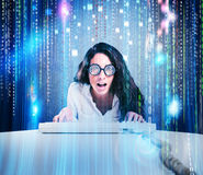 Женщина идиота и хакера Стоковые Изображения RF