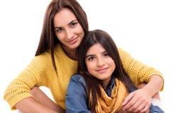 Женщина и маленькая девочка Стоковая Фотография