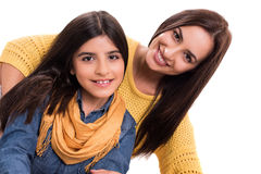 Женщина и маленькая девочка Стоковые Фотографии RF