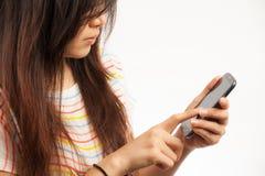 Женщина и мобильный телефон Стоковая Фотография RF