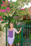 Женщина и лозы Стоковая Фотография RF