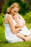 Женщина и ребенок стоковое изображение rf