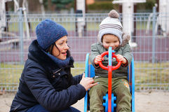 Женщина и ребенок Стоковые Фотографии RF