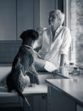 Женщина и собака Стоковое фото RF