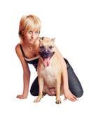 Женщина и собака Стоковая Фотография RF