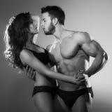 Женщина и человек страсти Стоковое Изображение RF