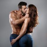 Женщина и человек страсти Стоковые Изображения