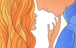 Женщина и человек эскиза Стоковая Фотография RF