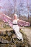 Женщина как бабочка стоковые изображения rf