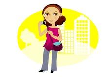 женщина камеры Иллюстрация штока