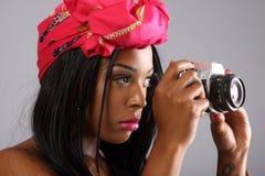 женщина камеры Стоковые Фото