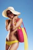 женщина каникулы лета стоковое фото