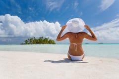 женщина каникулы Стоковая Фотография RF