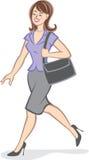 женщина карьеры уверенно Иллюстрация штока