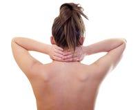 Боль шеи Стоковые Изображения RF