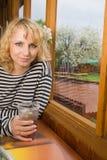 женщина кафа стоковое изображение rf