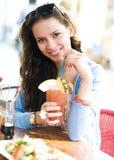 женщина кафа Стоковое Фото