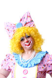 женщина клоуна крупного плана Стоковые Изображения RF