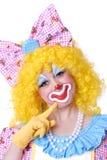 женщина клоуна крупного плана Стоковое Изображение