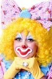 женщина клоуна крупного плана Стоковые Фотографии RF