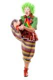 женщина клоуна Стоковая Фотография