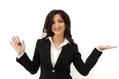 женщина ключа руки дела Стоковое фото RF