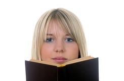 женщина книги Стоковые Фотографии RF