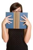 женщина книги Стоковые Фото