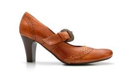 женщина кожаного ботинка Стоковое Изображение RF