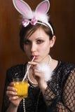 женщина коктеила Стоковое фото RF